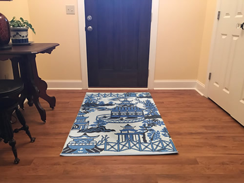 My entry - Indoor/Outdoor Blue Willow Pagoda Rugs from Dream Decor