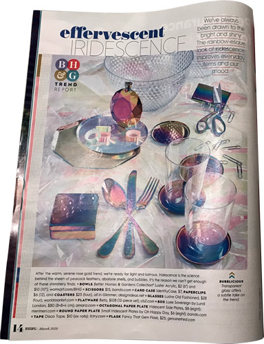 Effervescent Iridescence Better Homes & Gardens March 2019