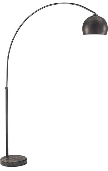 George's Reading Room Floor Lamp George Kovacs P053-615B Dorian Bronze Arc Floor Lamp with Black Marble Base - Arc Lamp - '70s Glam