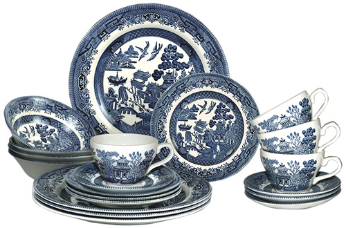Churchill Blue Willow China - Blue Willow China - It's really not hard to find now