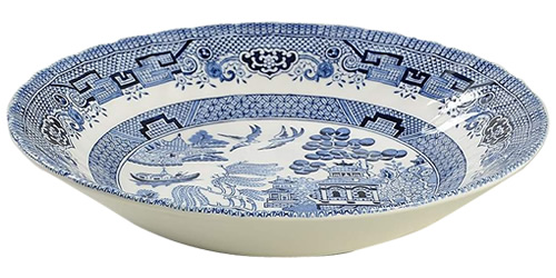Churchill Blue Willow with a swirl pattern - Blue Willow China - It's really not hard to find now