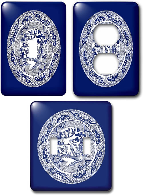 Blue Willow Light Switch And Outlet Cover Plates My Design42