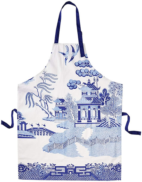 Gift Republic Blue Willow Aprons