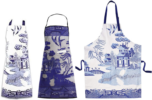 Blue Willow Aprons from Gift Republic and Lao Yang Mai