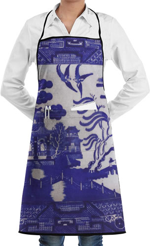 Lao Yang Mai Blue Willow Carpenter's Apron
