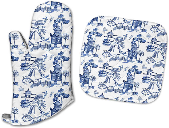 Jessies Designs Blue Willow Pot Holders