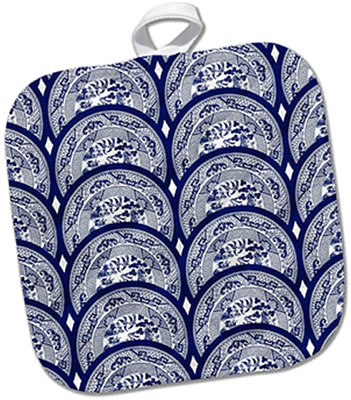 Blue Willow Plates Pot Holder from 3D Rose