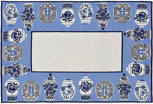 Liora Manne's Ginger Jars Blue Area Rug