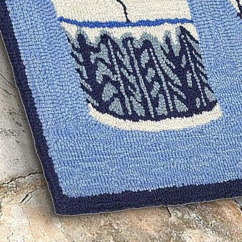 Liora Manne's Ginger Jars Blue Rugs