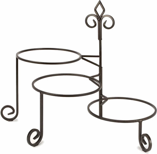 Pie Rack - Blue Willow 2-Tier and 3-Tier Servers and Cake Stands - myDesign42