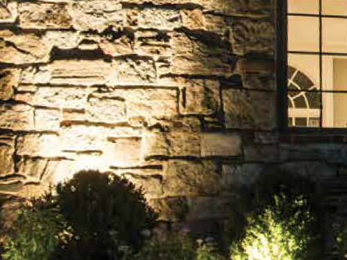 WAC Lighting Wall Wash LED Landscape Lights provide variable wattage control and wide light distribution