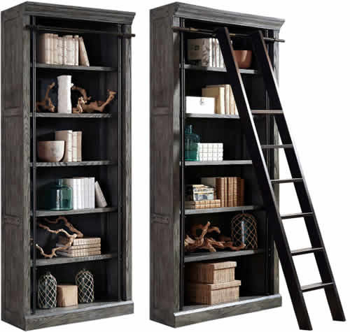 Martin Furniture Avondale Bookcases AE4094G with Metal Ladder IMTE402