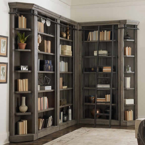 Martin Furniture Avondale Corner Bookcase Unit AE0294G, AE4094G, AE1593G with Metal Ladder IMTE402