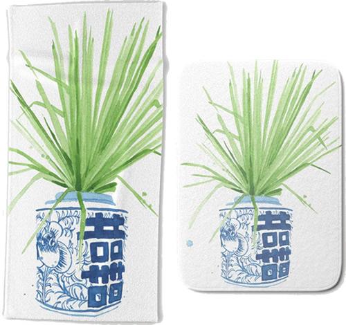 Ginger Jar Bathroom Mats and Towels