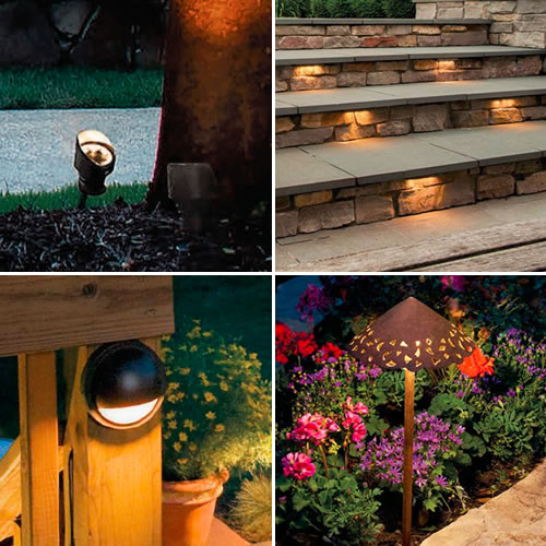 Kichler accent lighting, step lighting, deck light and path light