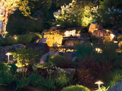 A combination of path and spread lights, accent and in-ground landscape lighting - Landscape Lighting Beam Spread and Light Control: Light where you want it