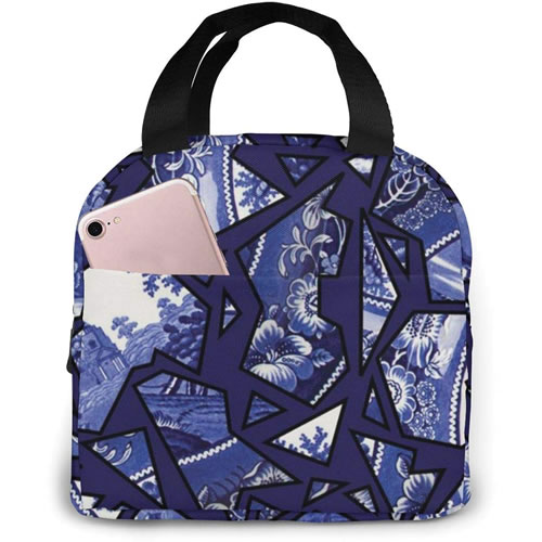 Blue Willow Mosaic Lunch Box
