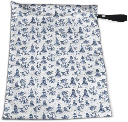 Blue Willow Toile Reusable Zip Bag