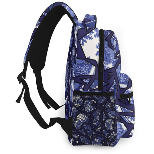 Reteone Blue Willow Mosaic Backpack