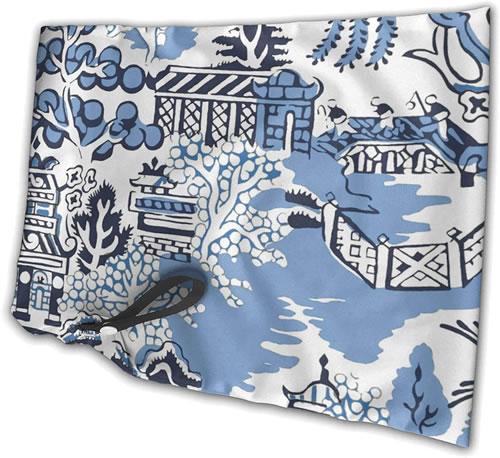 Winter Blue Willow Waterproof Reusable Bag