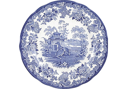 Spode Kangaroo or Kangaroo Enclosure from the Zoological Blue Room Collection