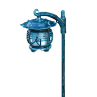 Hadco VPS2 and VPSL2 Cast Aluminum Pagoda Oriental Low Voltage Path Light