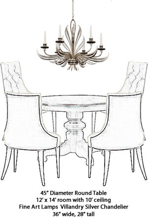Fine Art Lamps 815940 Chandelier From The Villandry Silver Collection