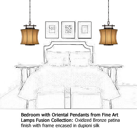 Fine Art Lamps Small Pendant from the Fusion Collection