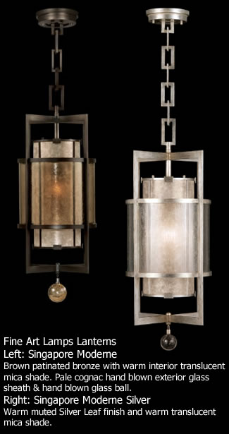 Fine Art Lamps Lantern 590040 from the Singapore Moderne Collection
