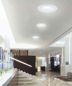 "Hallway with Eurofase 25081 6"" LED Conversion Kit"