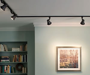 Room with Track Lighting