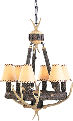 Monte Carlo GL6CHWI Great Lodge Antler Chandelier