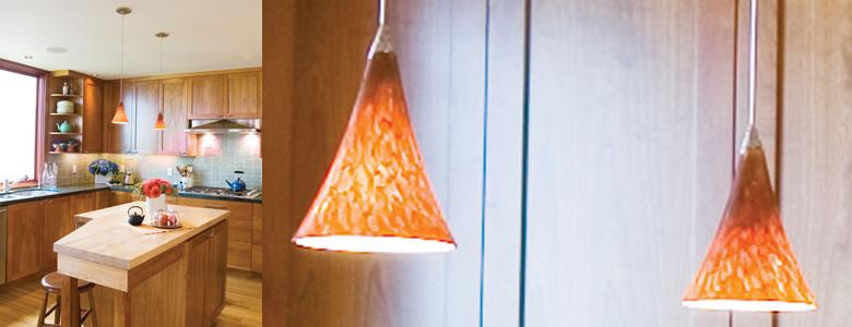 Kitchen With Tech Lighting Mini Melrose Pendants
