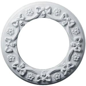 Ekana Millworks 171942 Ribbon with Bow Ceiling Medallion