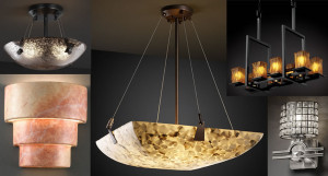 Justice Design Group allows you to customize your chandelier or other lighting to get exactly the look you like.