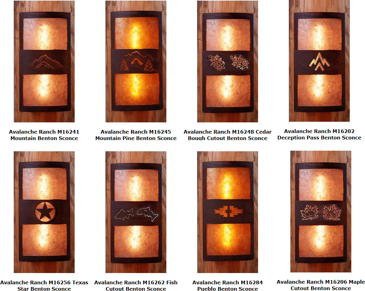 Wall Sconce With Curved Back For Log Cabins My Design42 Hard Wiring Sconces Avalanche Ranch Benton Series Homes Handmade In Usa