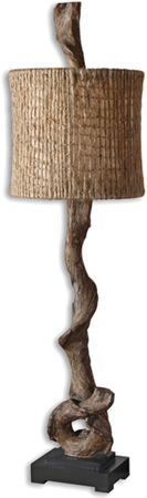 Uttermost 29163-1 Driftwood Buffet Lamp from the Driftwood Collection Designed by Billy Moon
