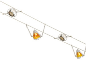 Tech Lighting Kable Lite with K-Hello Head Elements and K-Bye-Bye Head Elements with Amber Round Glass Shield Accessories