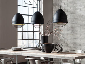 Urban Dining Room with LBL LP876 Loft Line Voltage Pendants
