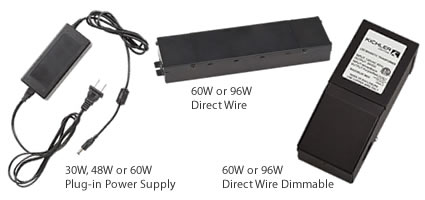 Add up the wattage to choose the right power supply.
