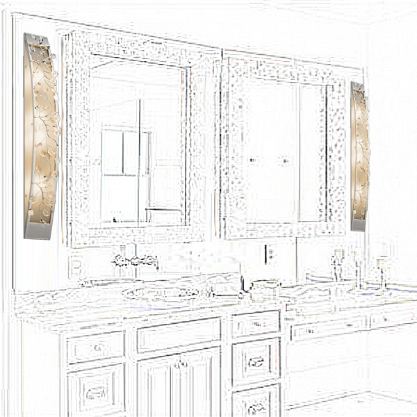 Kichler 45293CH Bath Bars from the Jardine Collection