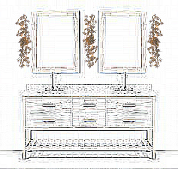 Crystorama 5307 Paris Flea Antique Reproduction Crystal Bath Bars from the Abbie Collection