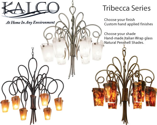 Personally select the finish and shade that will best complement your decor. Choose from Custom or Premier finishes, the select Hand-made Italian Wrap glass or Natural Penshell Shades.