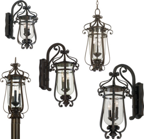 Kalco Hartford Outdoor Lighting Sophisticated New England styling gives Hartford Outdoor Lighting its classic flair. Available in Antique Copper or Burnished Bronze finish with Clear Seeded glass.