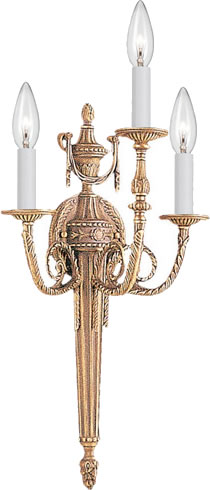 French Country Style - Crystorama 663 Wall Sconce from the European Classic Collection