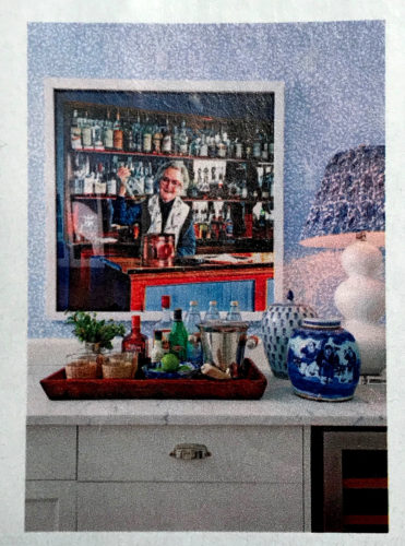 Blue and White Shade - Southern Living January 2018, article by Elizabeth Passarella with photographs by Hector Manuel Sanchez.