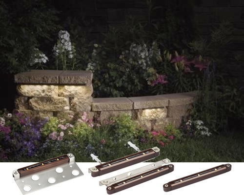 Kichler Design Pro LED 12V Hardscape Deck, Step and Bench Landscape Lighting