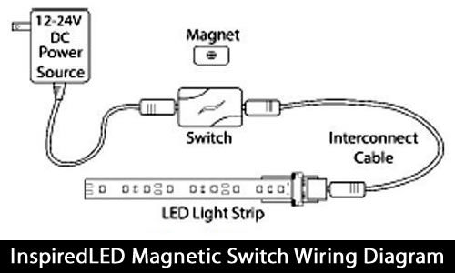 InspiredLED Magnetic Switch Wiring Diagram