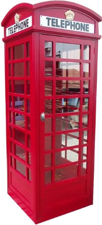 "D-Art Collection CBN050 7' 4"" Big London Telephone Booth"