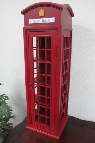 Home Accents HA-CBN-12-03 London Mini Telephone Display Storage Case
